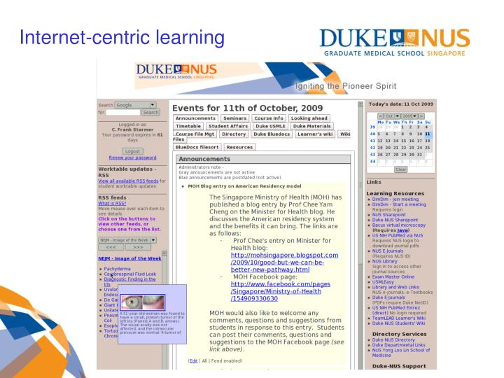 Internet-centric learning