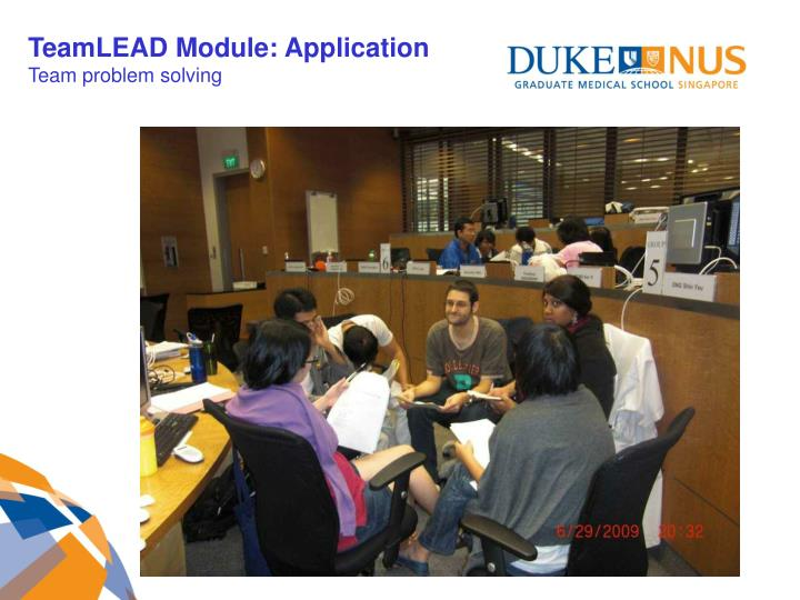 TeamLEAD Module: Application