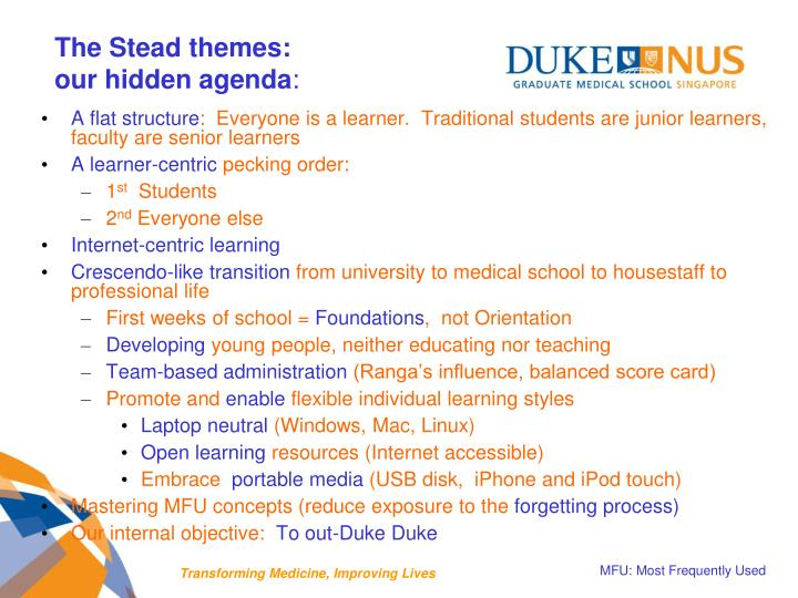 The Stead themes: