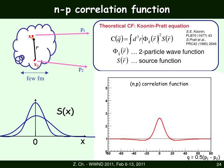 n-p correlation function