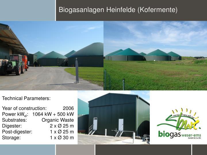 Biogasanlagen Heinfelde (Kofermente)