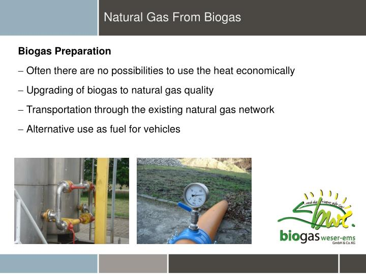 Natural Gas From Biogas