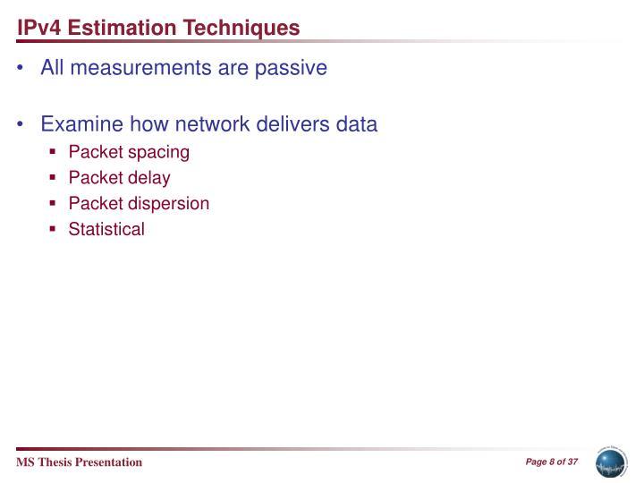 IPv4 Estimation Techniques
