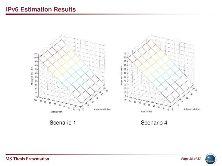 IPv6 Estimation Results