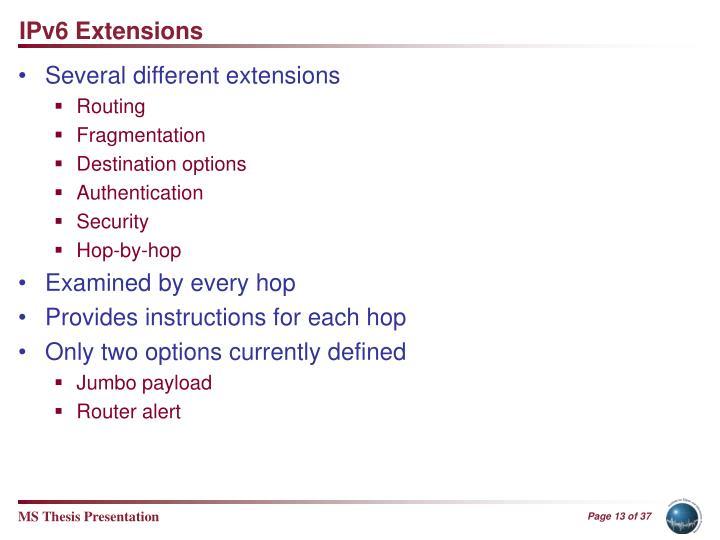 IPv6 Extensions