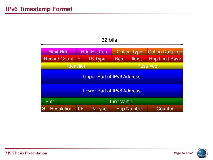 IPv6 Timestamp Format