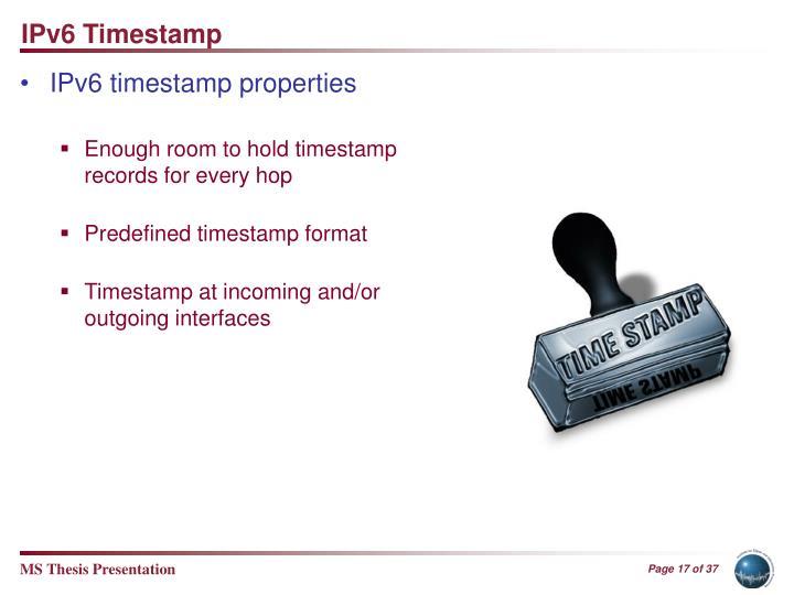 IPv6 Timestamp
