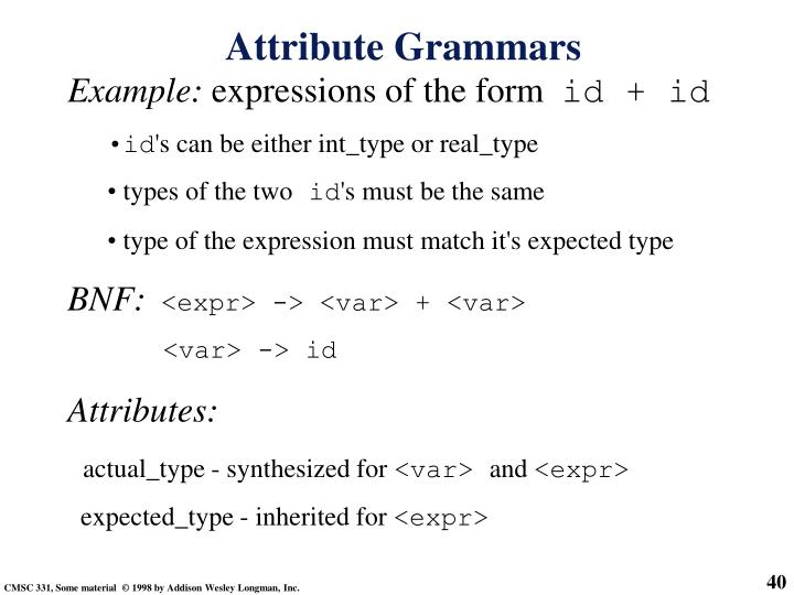 Attribute Grammars