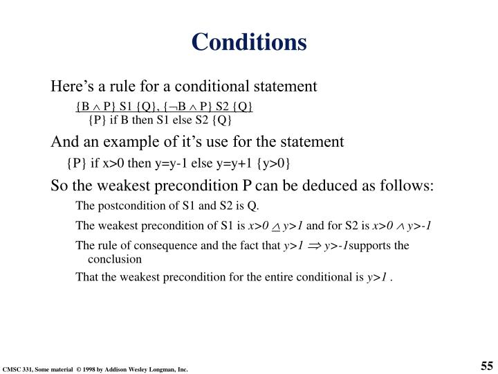 Here's a rule for a conditional statement