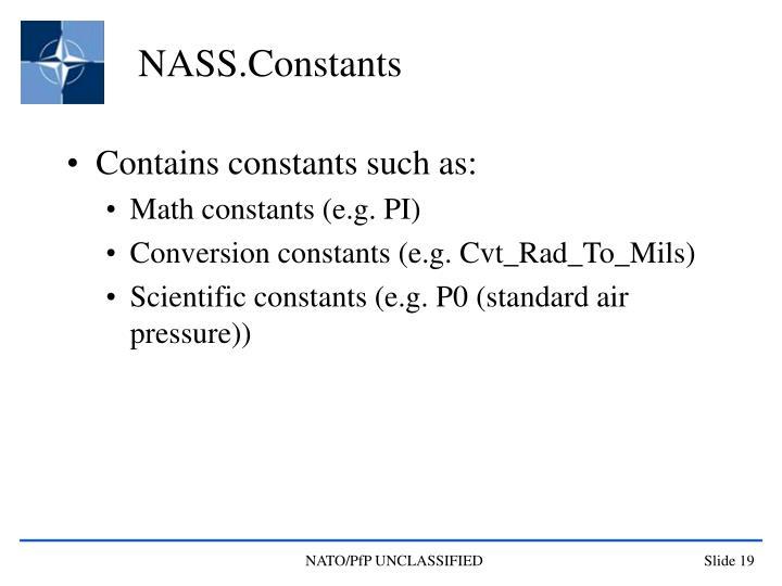NASS.Constants
