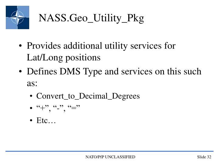 NASS.Geo_Utility_Pkg