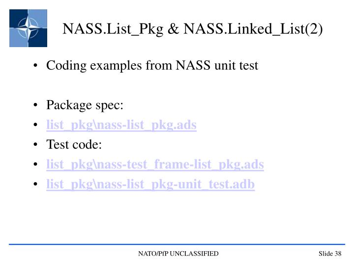 NASS.List_Pkg & NASS.Linked_List(2)