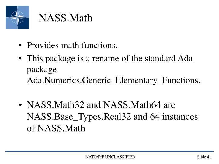 NASS.Math