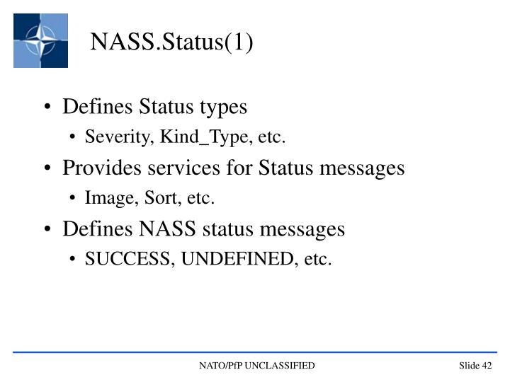 NASS.Status(1)