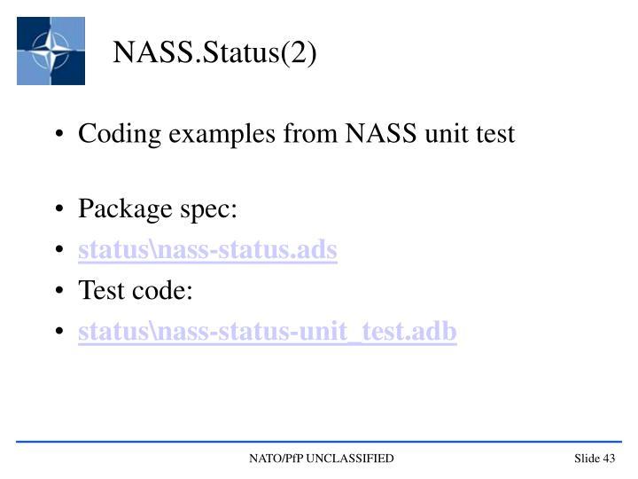 NASS.Status(2)