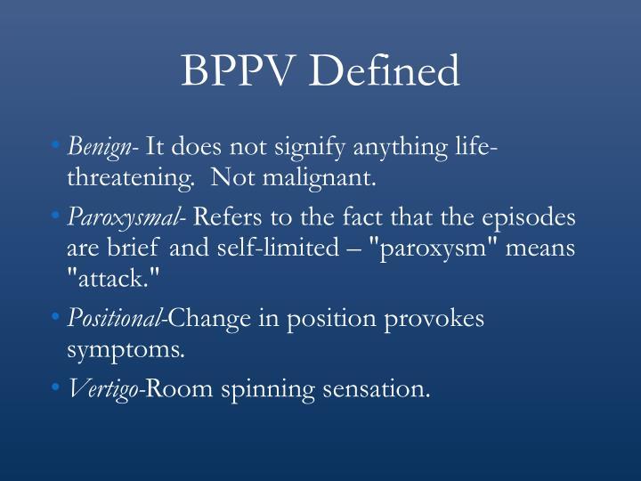 BPPV Defined