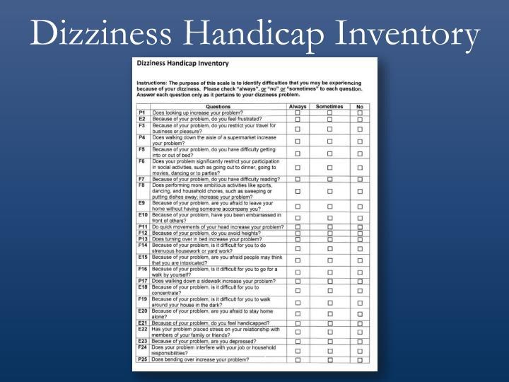 Dizziness Handicap Inventory