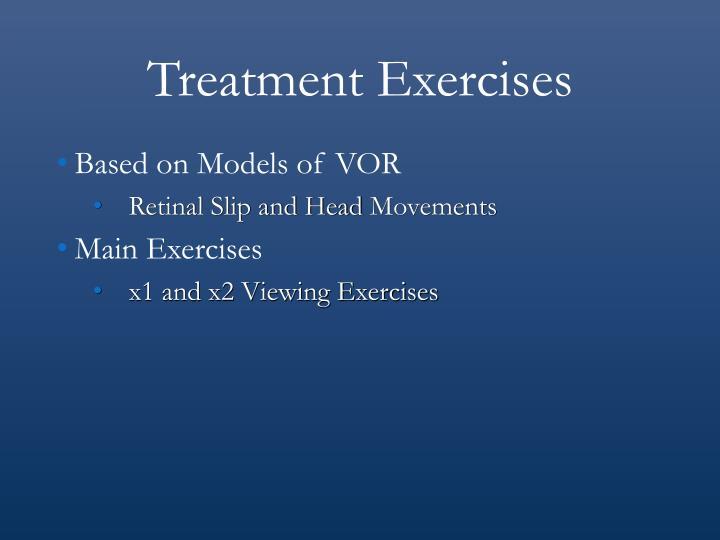 Treatment Exercises