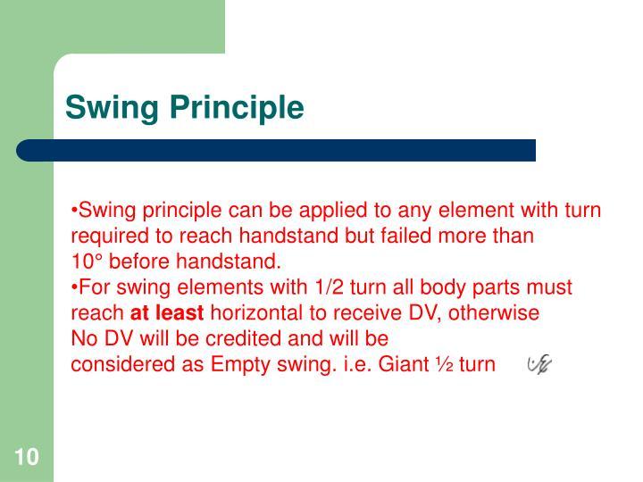 Swing Principle