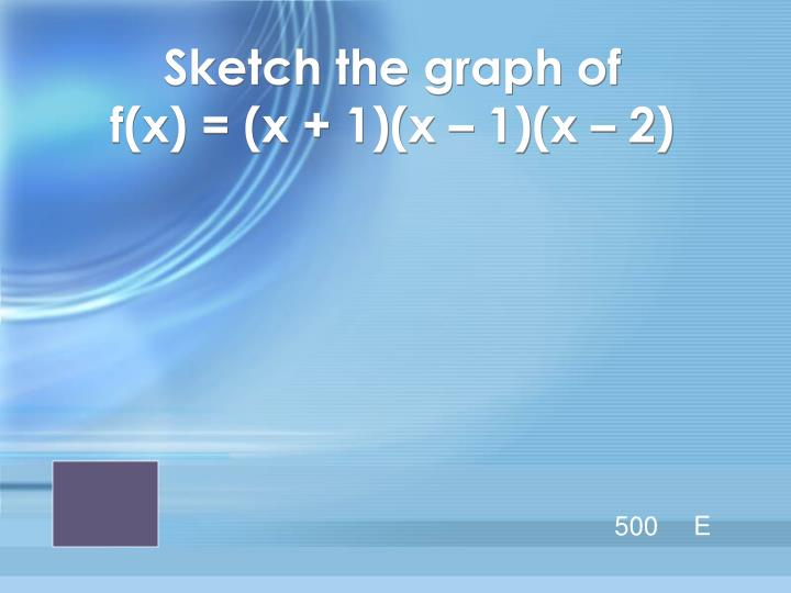 Sketch the graph of