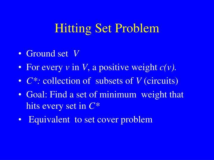 Hitting Set Problem