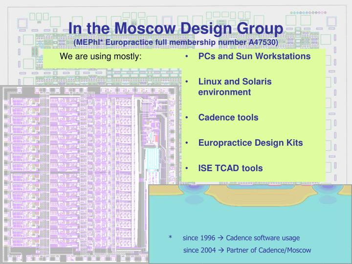 In the Moscow Design Group