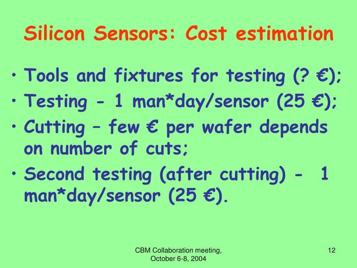 Silicon Sensors: Cost estimation