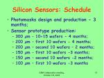 silicon sensors schedule