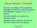 silicon sensors schedule1