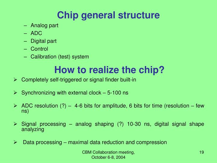 Chip general structure