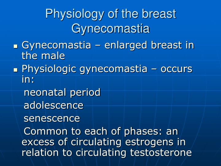 Physiology of the breast