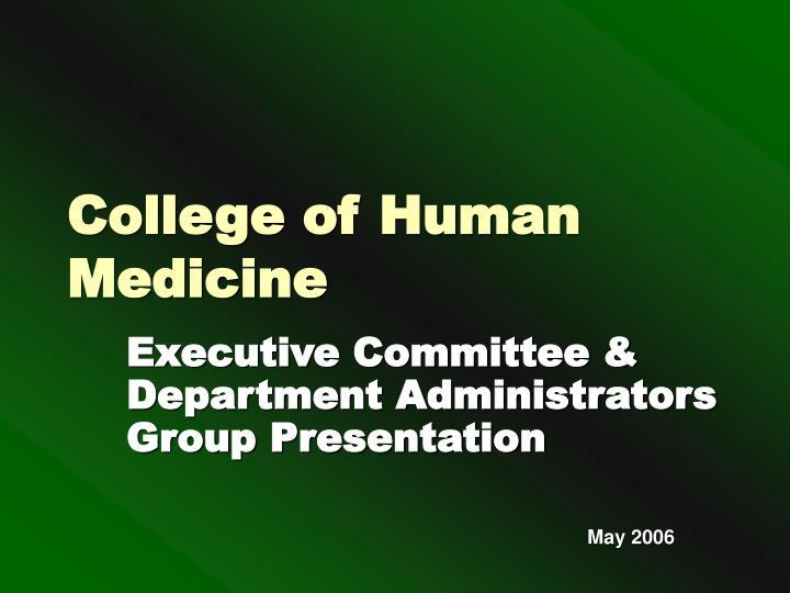 College of Human Medicine