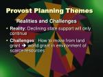 provost planning themes2