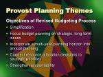 provost planning themes4