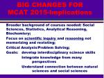 big changes for mcat 2015 implications