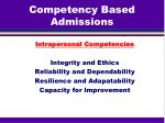 competency based admissions1