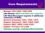 core requirements
