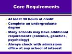 core requirements1