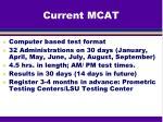 current mcat