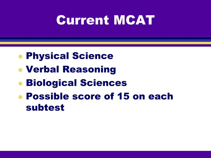 Current MCAT