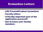 evaluation letters