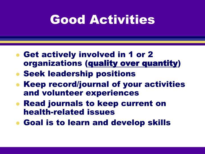 Good Activities