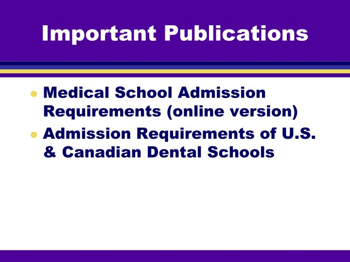Important Publications