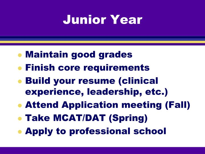 Junior Year
