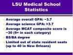 lsu medical school statistics