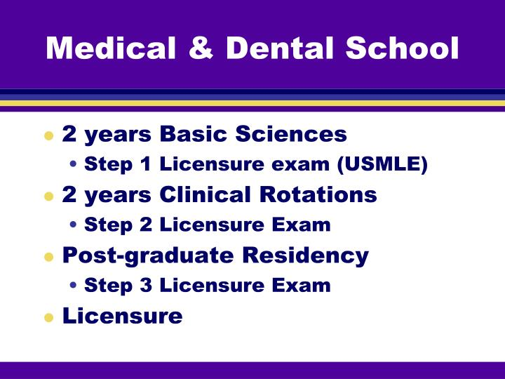 Medical dental school