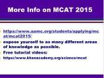 more info on mcat 2015