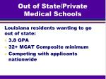 out of state private medical schools