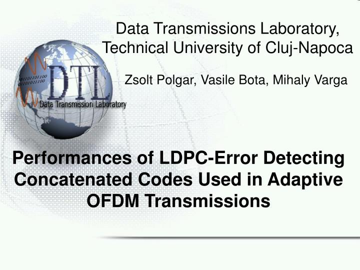 Performances of ldpc error detecting concatenated codes used in adaptive ofdm transmissions