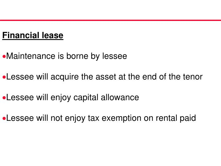 Financial lease